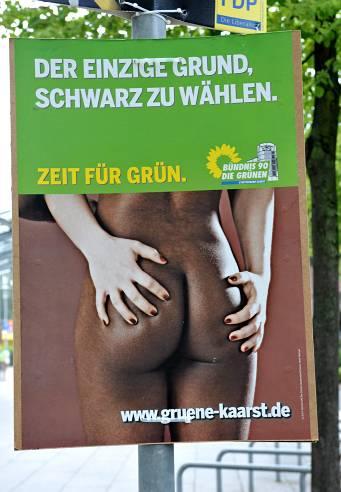 Grüne-Wahlplakat